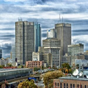 Buildings and skyline of Winnipeg