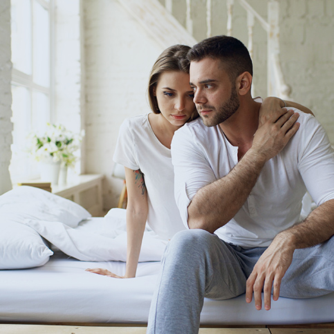 couple experiencing affects of erectile dysfunction