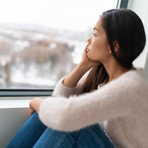 woman experiencing seasonal affective disorder